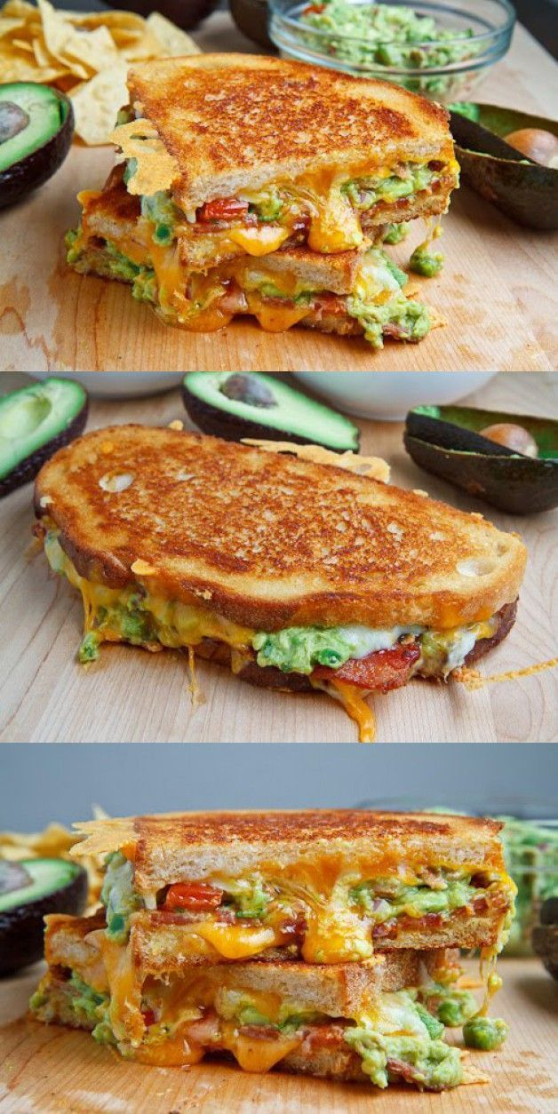 Grilled Cheese Sandwich A buttery and toasty grilled cheese sandwich stuffed with cool and creamy guacamole, crispy bacon and melted jack and cheddar cheese. The crunchy crumbled tortilla chips in this grilled cheese pay tribute to the classic combination of tortilla chips and guacamole dip.A buttery and toasty grilled cheese sandwich ...Guaca