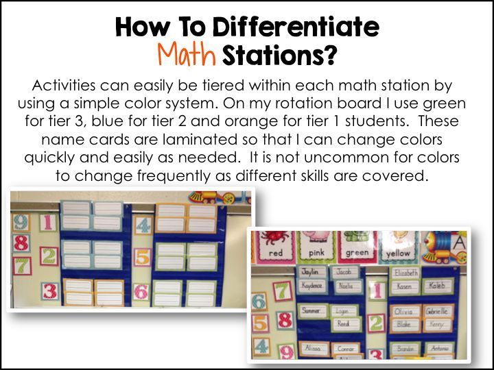 Daily 5 2nd Edition Daily 3 Math My Differentiated Kinder Spin On