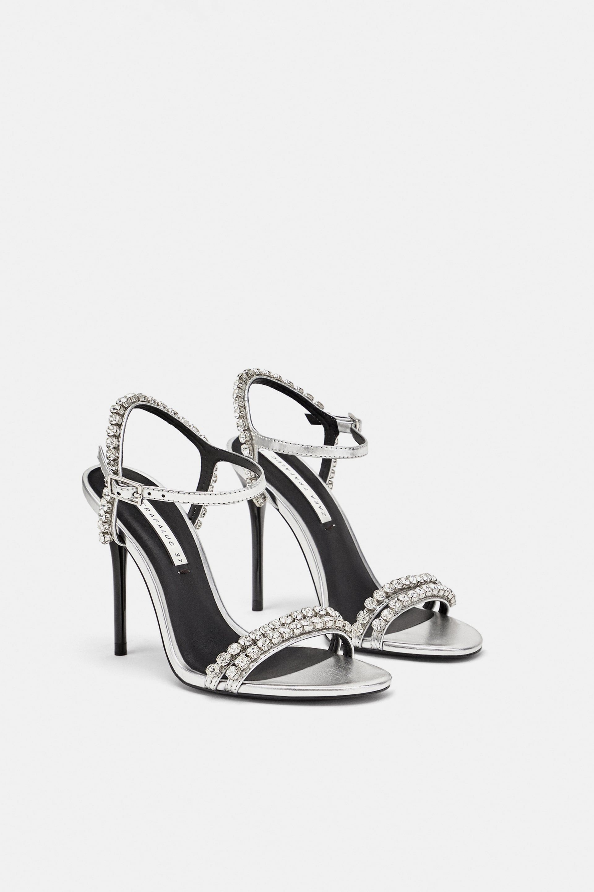 b49a6f86fc55 Sparkly heeled sandals | karen | Diamante sandals, Sparkly heels ...