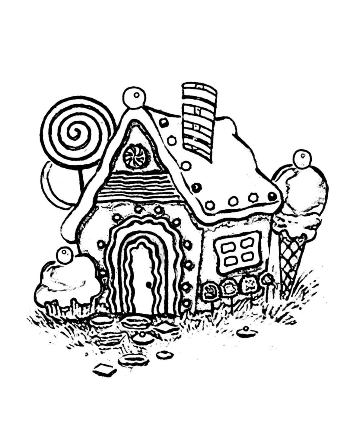 30 Unique Gingerbread House Coloring Page In