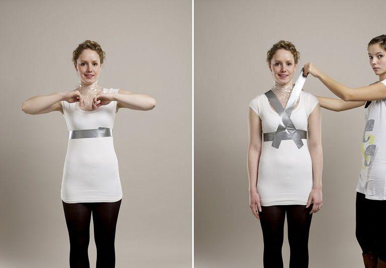 Su propia forma de costura del maniquí 03