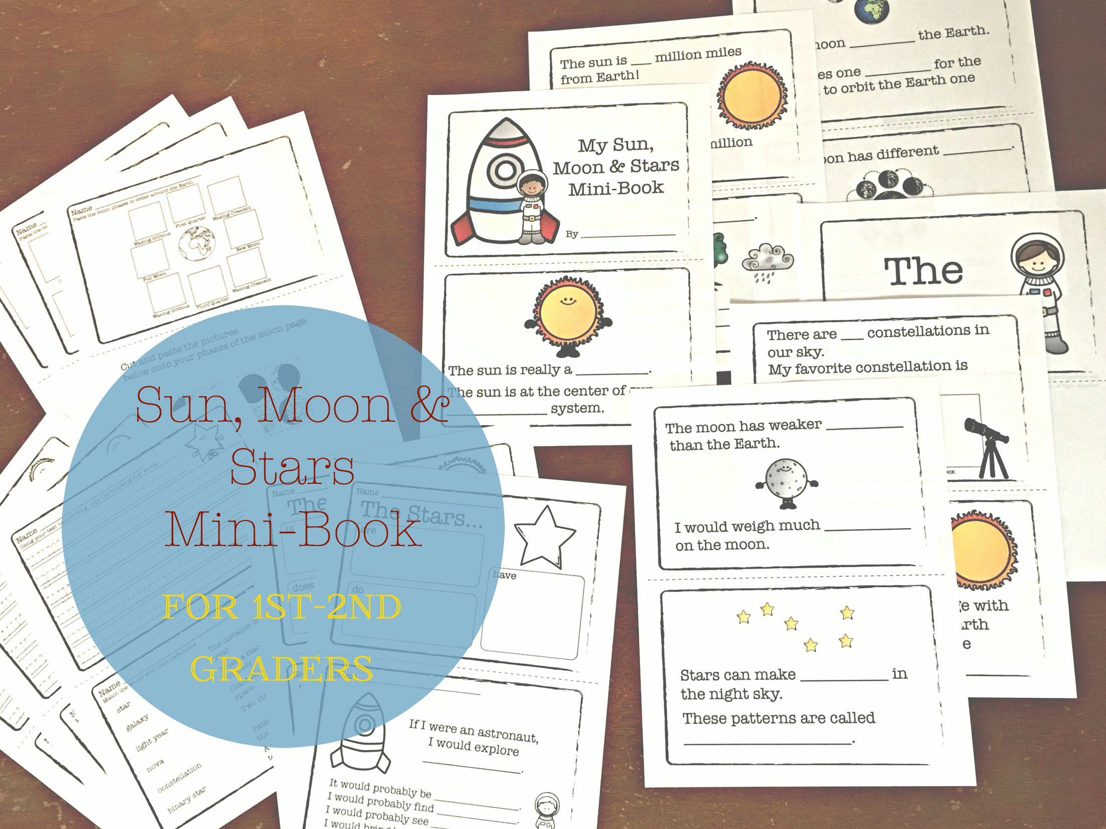 Sun Moon And Stars Mini Book And Unit 1st 2nd Grades