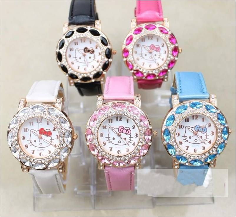 Lovely+Hello+Kitty+Watch+for+Women+or+older+Children.+Measure+Approximately+9+inches.