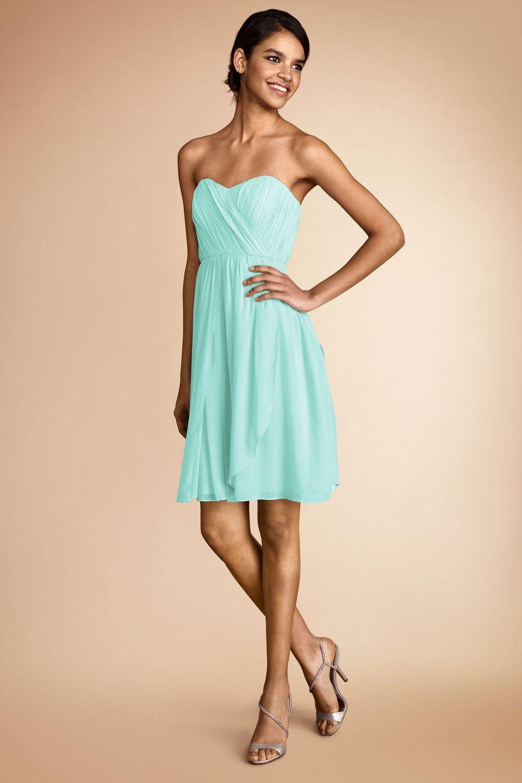 DonnaMorgan Blaire #Bridesmaids dress in Spearmint | Mint Weddings ...