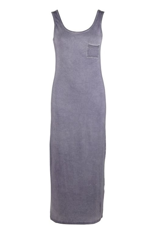 Saint Tropez Long Tube Dress w oilwas Blue Ice K6525 - Kjoler/nederdele - MaMilla