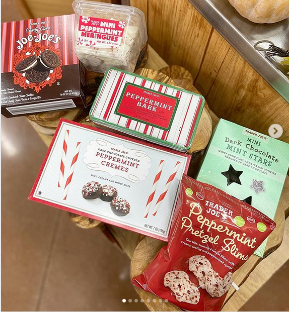 Trader Joe S Peppermint Selection Peppermint Meringues Peppermint Trader Joes