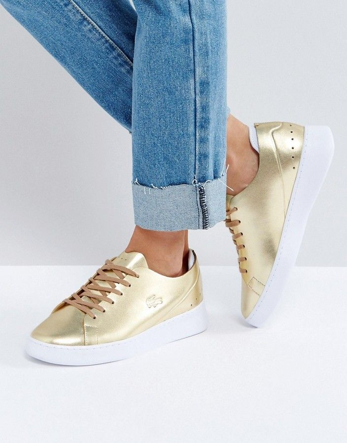 719995820f928e Lacoste Eyyla 317 1 Metallic Sneakers In Gold