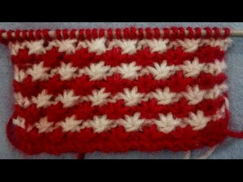 Knitting Stitches Star Design Youtube Knit Knit Pinterest