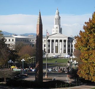 Denver City and County Building and Colorado Veterans Monument