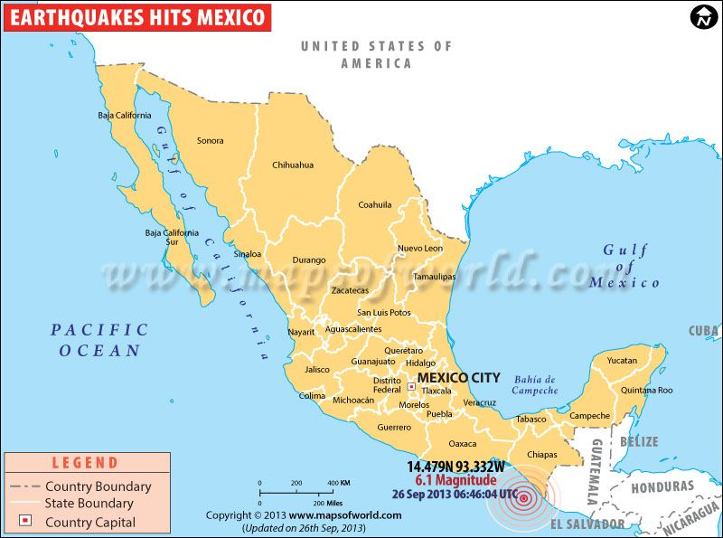 Earthquake In Mexico 26 September 2013 Maps Pinterest Mexico