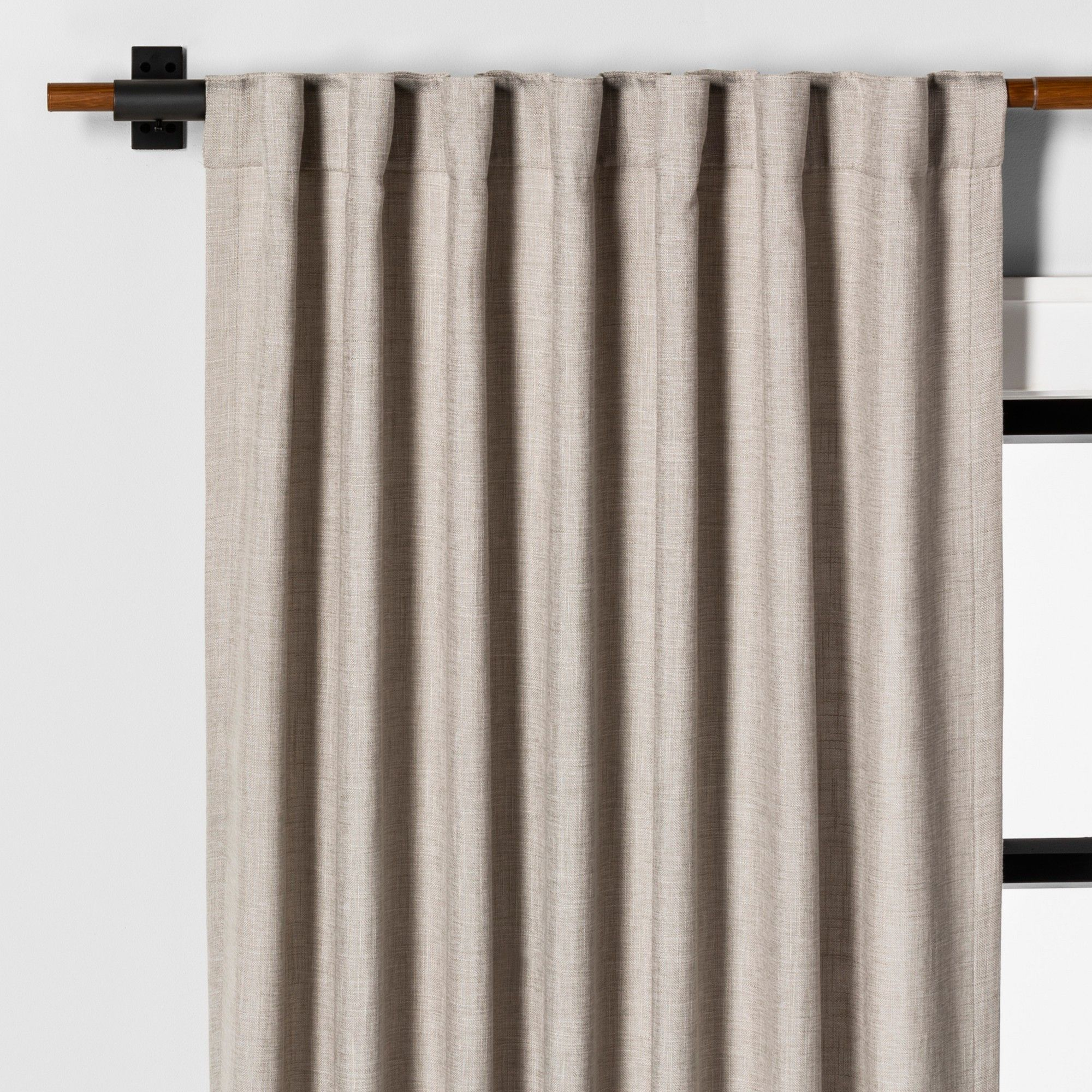 95 Curtain Panel Solid Fresno Pebble Hearth Hand With