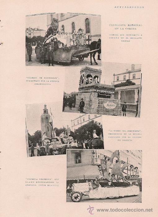 Cabalgata regional en La Coruña: 4 fotos (Blanco) - 1929 -