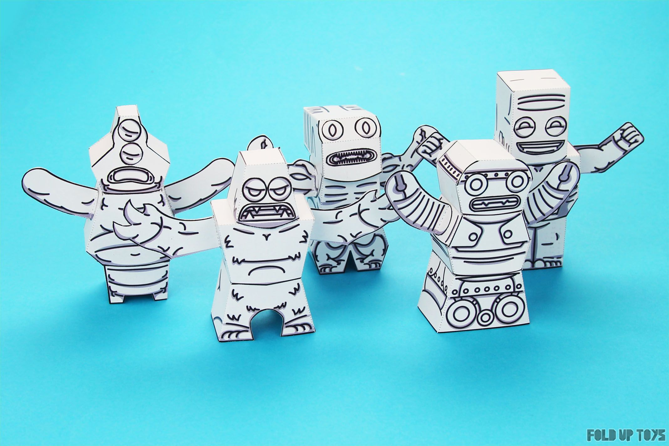 Twinkl Mix Match Monsters - Fold Up Toys