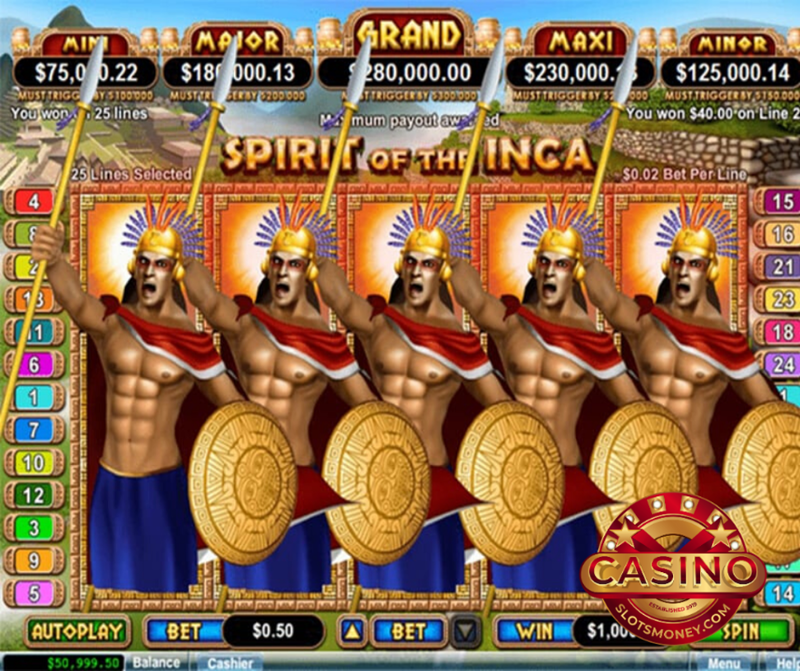 Play Spirit Of The Inca Slot Machine Free with No Download