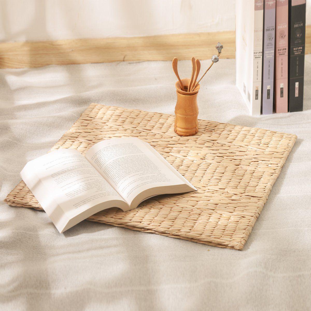 Eshow Handmade Woven Natural Seat Furniture Floor Pillow