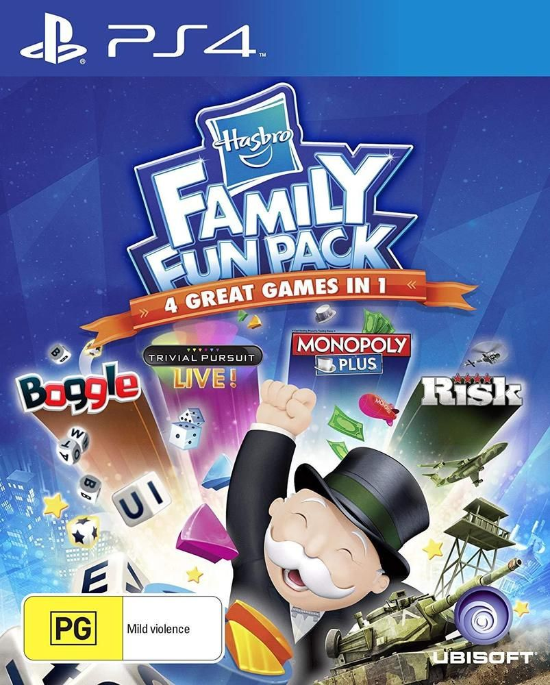 Hasbro Family Fun Pack Monopoly Risk Trivial Pursuit Game