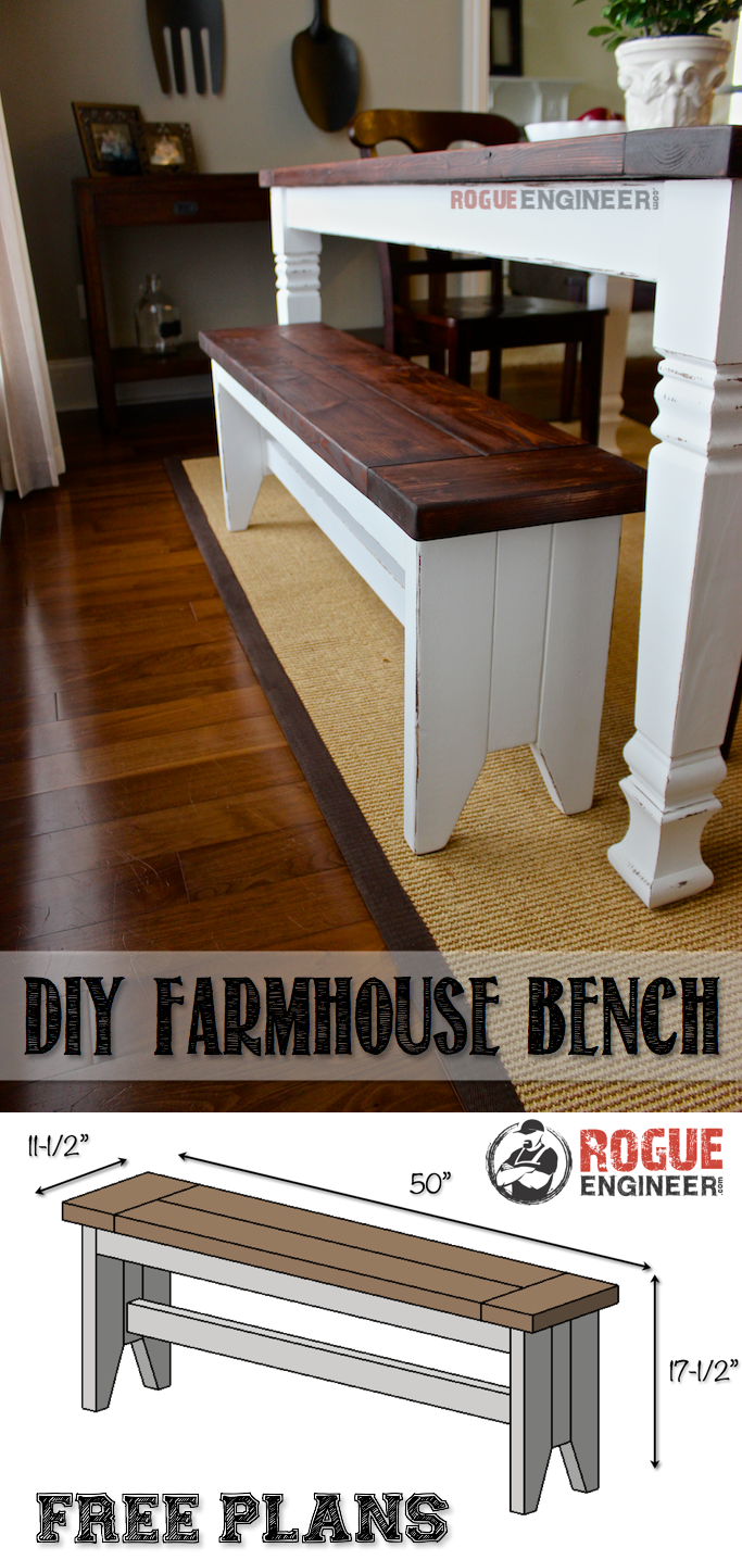 Fabulous Diy Farmhouse Bench To Do Make Wish List Farmhouse Bench Machost Co Dining Chair Design Ideas Machostcouk