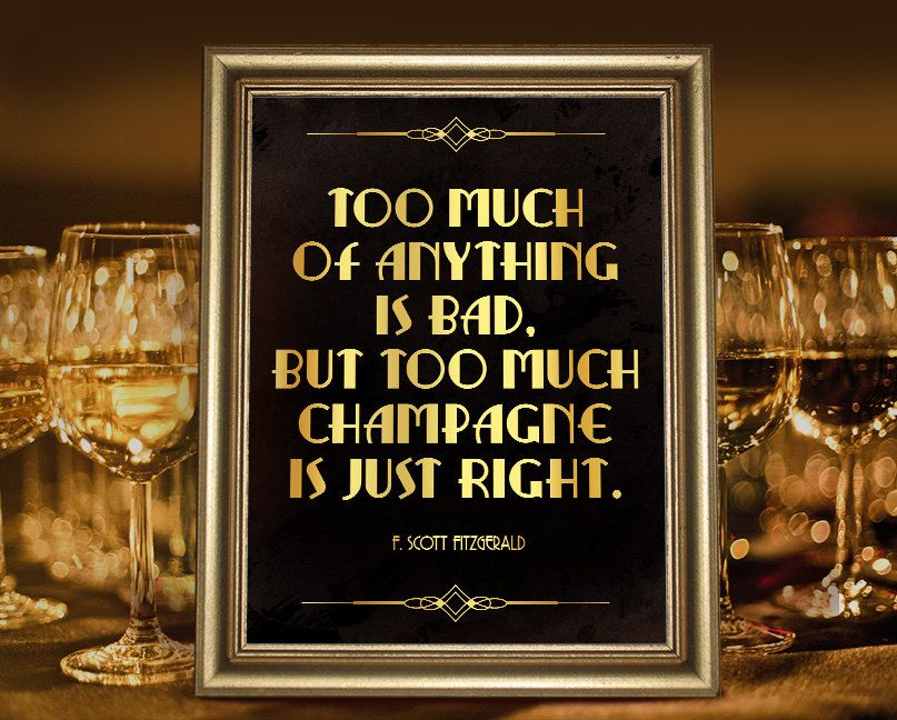 F scott fitzgerald quote poster gatsby party decoration f scott fitzgerald quote poster gatsby party decoration champagne bar decor roaring 20s printable sign gatsby wedding decoration junglespirit Choice Image