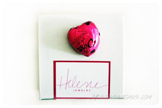 February 2014 Helene Jewelry Box -  Helene Jewelry takes the guess work out of accessorizing by sending you fun, feminine and unforgettable pieces. Price: USD $25.00/month -- #beauty #helenejewelry #jewelry #accessories #fashion #bracelet #subscriptionbox