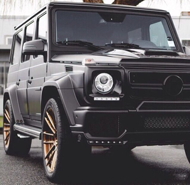 Matte black with rose gold rims my g class mercedes benz for Matte black mercedes benz