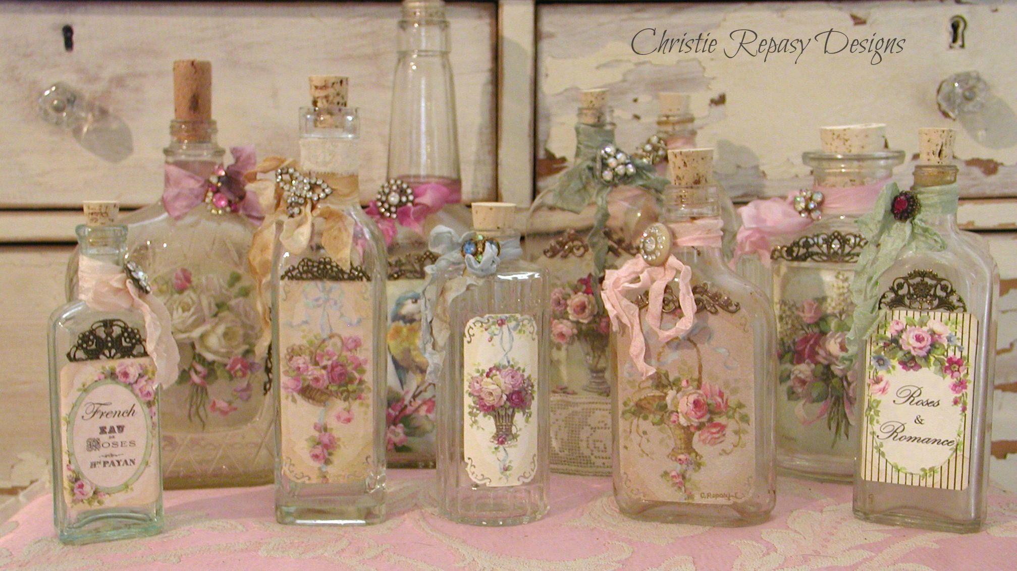 Decorating Vintage Bottles
