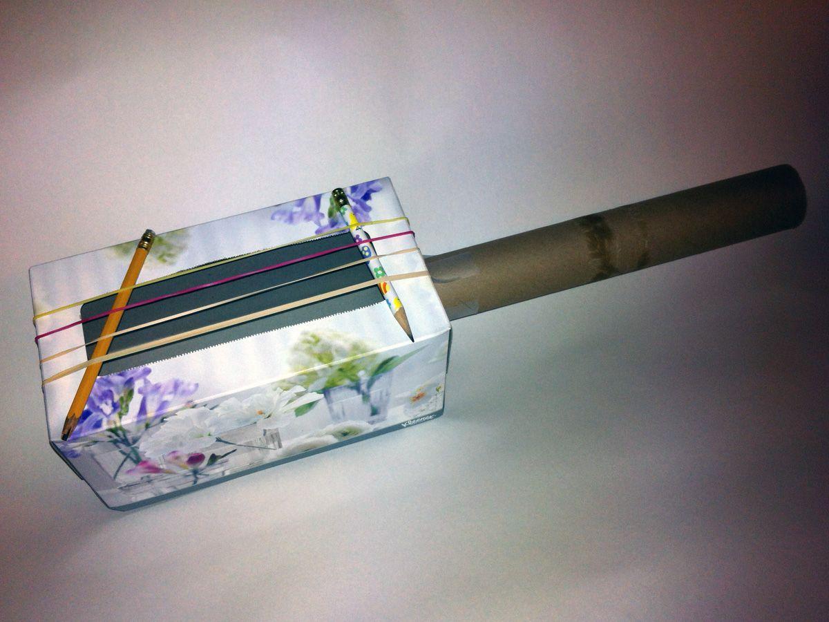 Tissue box guitar Homemade musical instruments, Music crafts