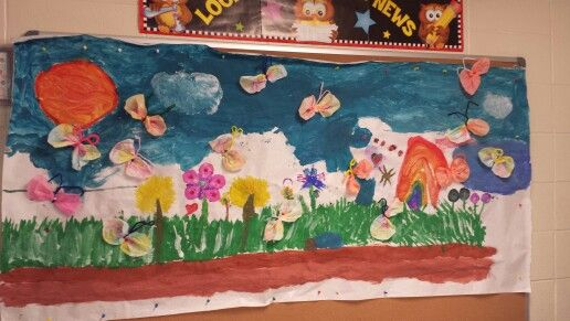 Open ended garden created by our children for Spring break 2015
