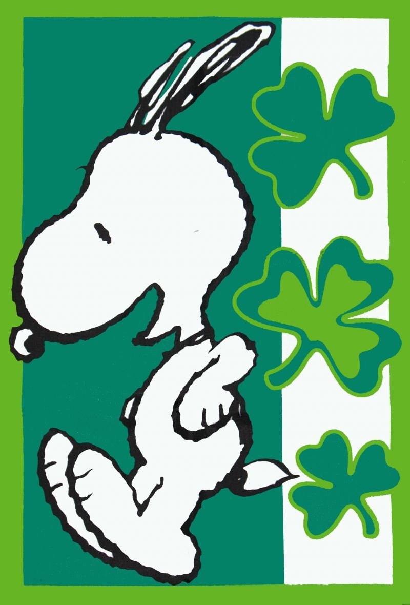 Snoopy And St Pattys Day Snoopy St Patrick S Day Flag Snoopn4pnuts Com ビンテージ ポスター イラスト スヌーピー