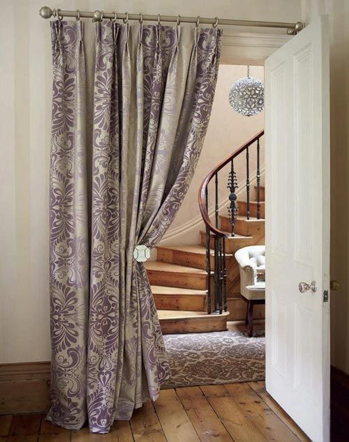 a curtained doorway home beautiful