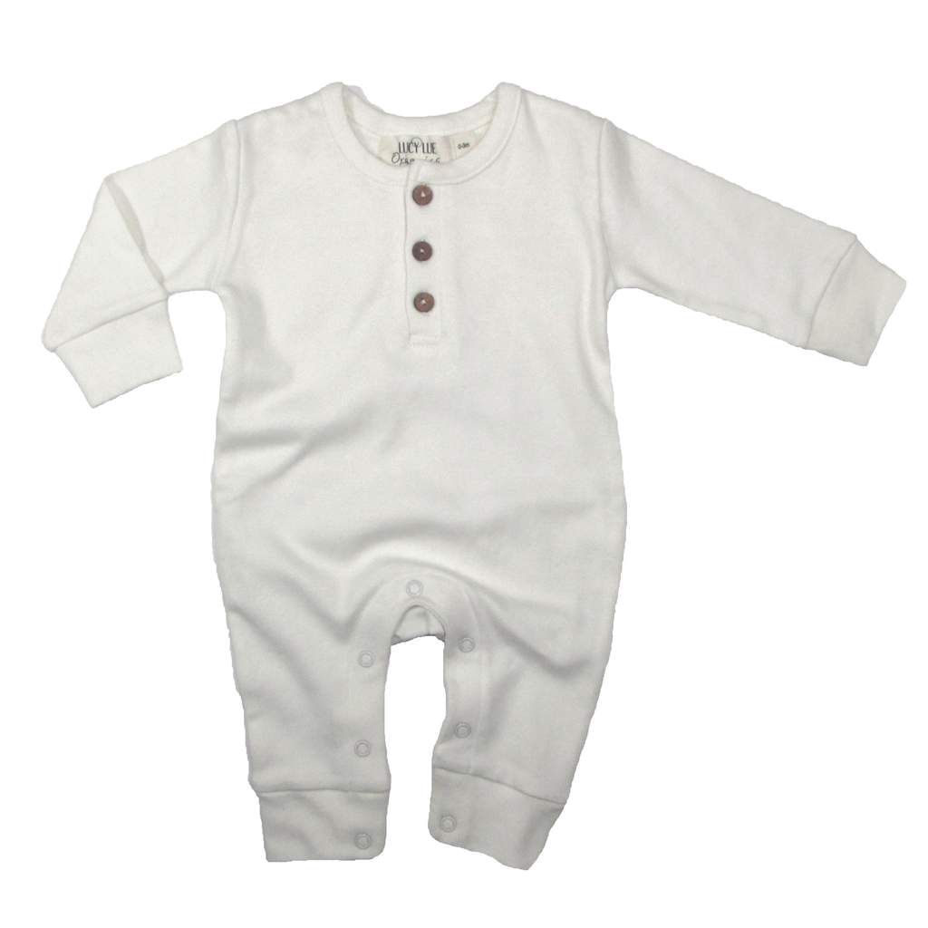 LUCY LUE ORGANICS EXCLUSIVE// COVERALL - LONG SLEEVE IVORY. Baby ...