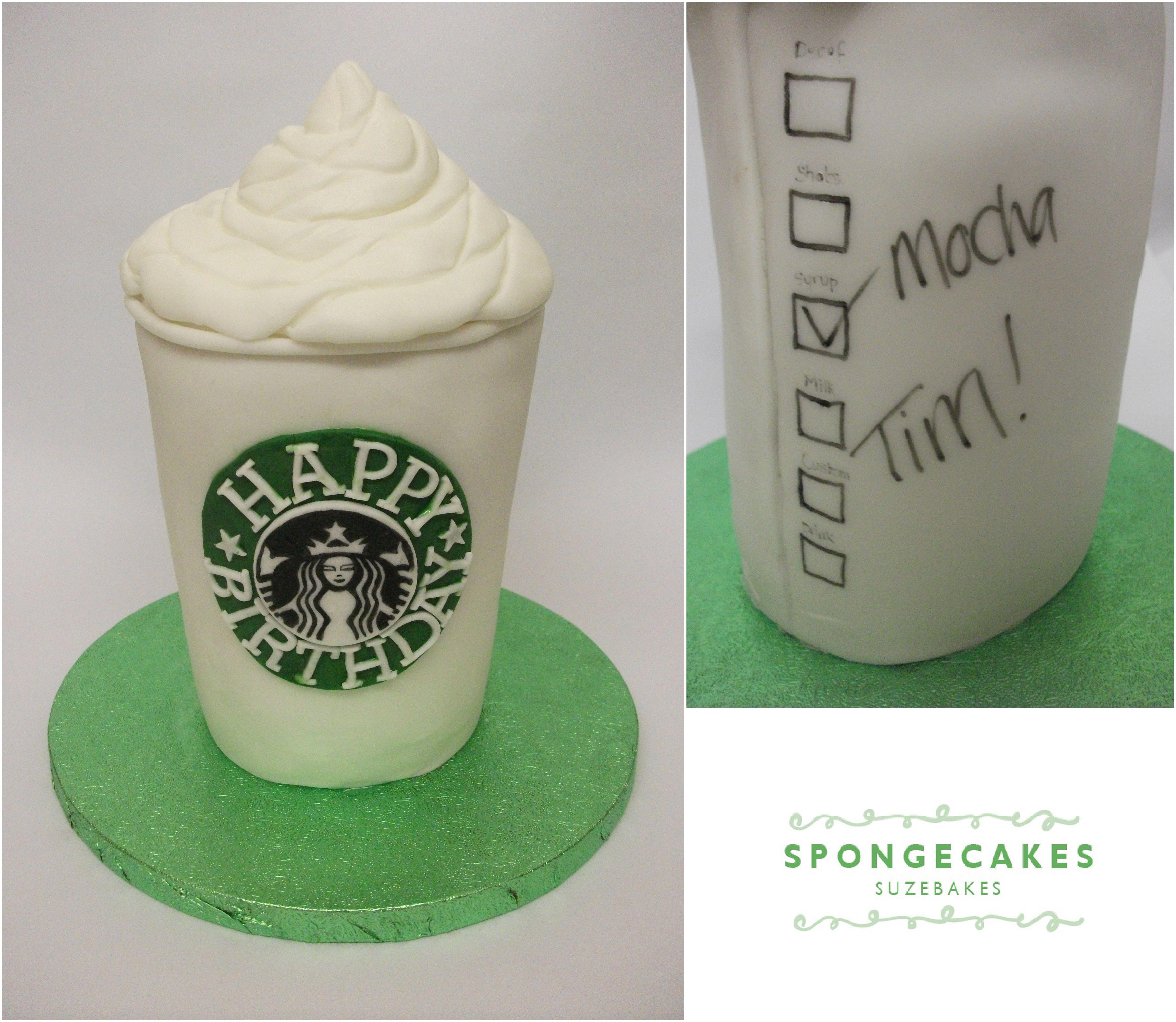 Starbucks Coffee Cup Cake | Starbucks cake, Fondant cake