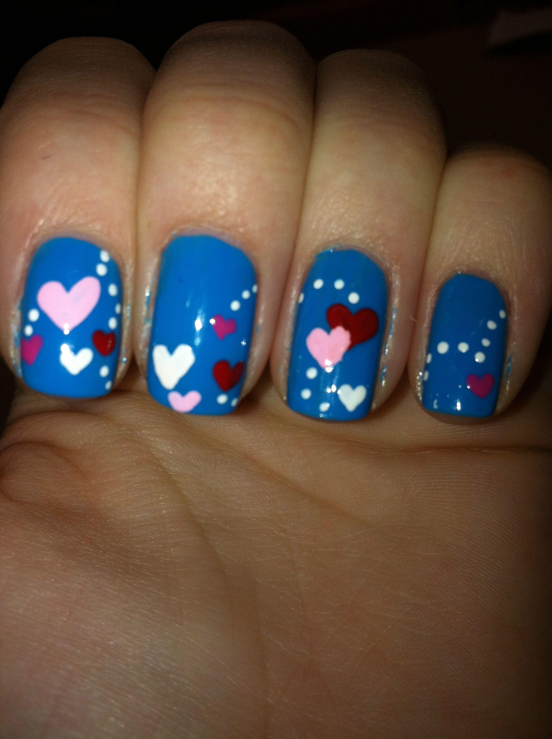 Easy Valentine\'s Day Nail Art Ideas   Colorful nails and Nail nail
