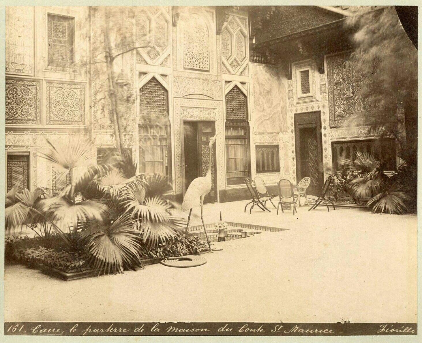 Caire Le Parterre De La Maison Du St Maurice Vintage Albume Egypte Fiorillo Oriental Art Painting Art
