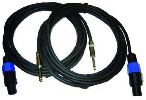 Zebra X214 25 25 Ft Speakon To 1 4 In 2 Wire Cable By Zebra 21 37 Speakon To 1 4 2 Wire Speaker Cable Manufactured To Speaker Cable Speaker Wire Cable