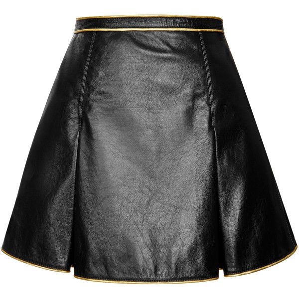 Marc Jacobs Black Leather Pleated Mini Skirt | Beauty & Style ...