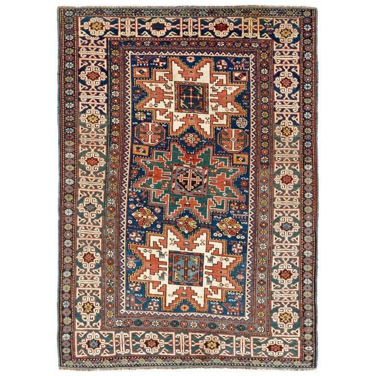 Antique North East Caucasian Lesghi Rug