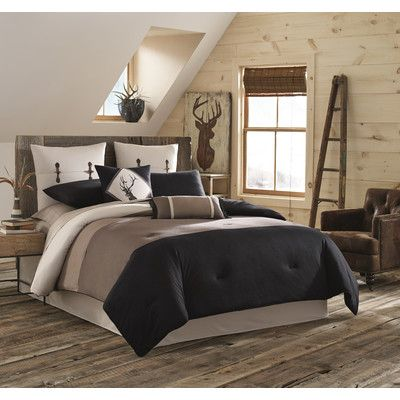 True Timber Pieced Stripe Bedding Collection Bedroom Comforter