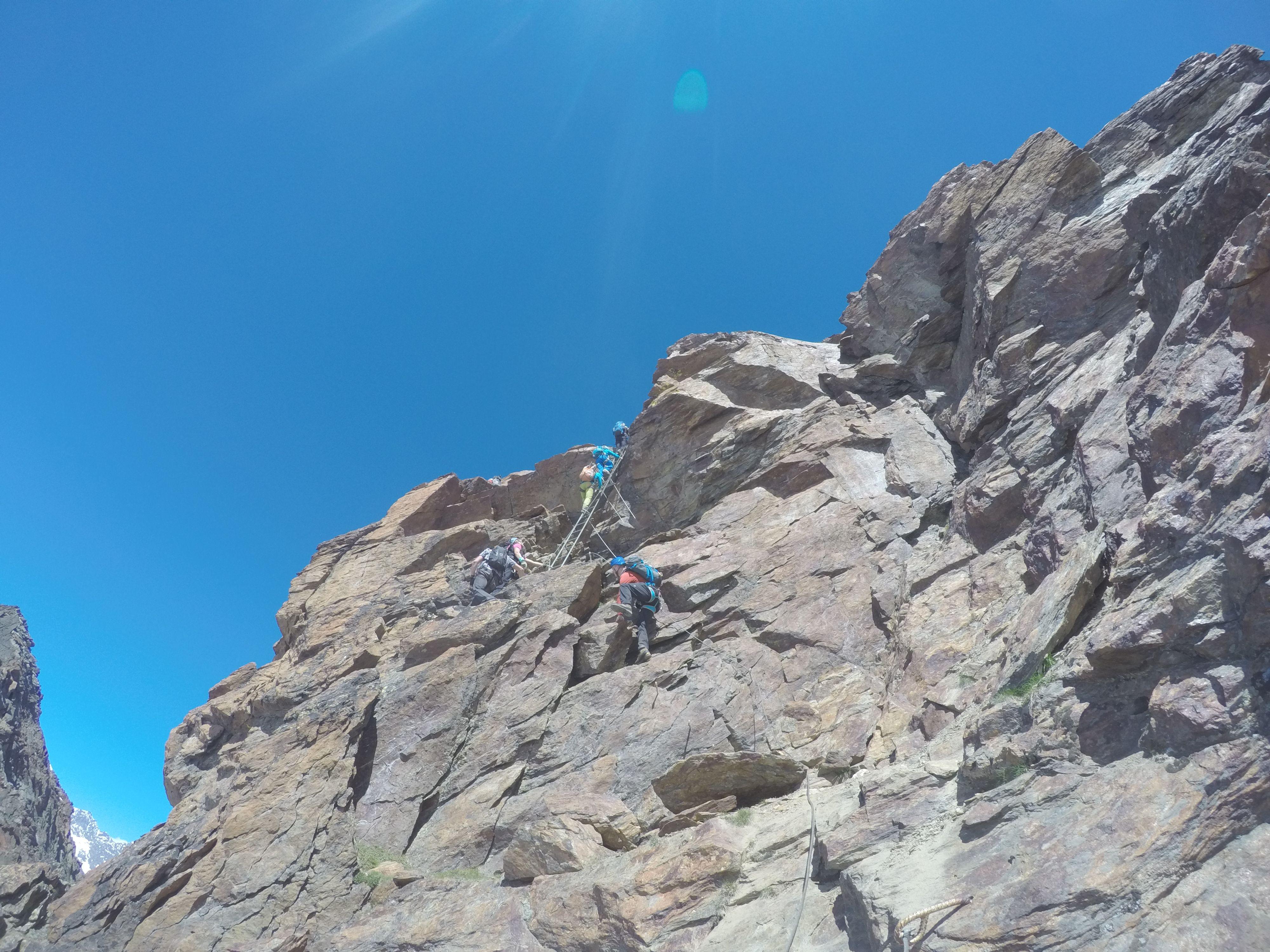 Klettersteig Jägihorn : Hochgang klettersteig jägihorn am kreuzboden kletterseig