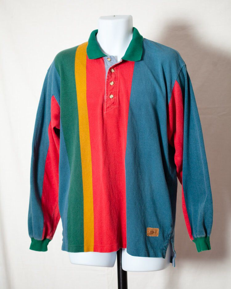 43406786 Vintage 80s 90s Long Sleeve Polo Shirt - BOSTON TRADERS - L by  GreatWhiteVintage on Etsy