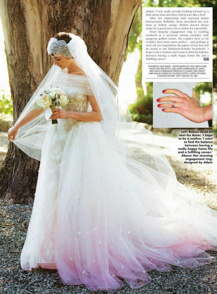 Bridal Collection Anne Hathaway In Her Wedding Day In Valentino