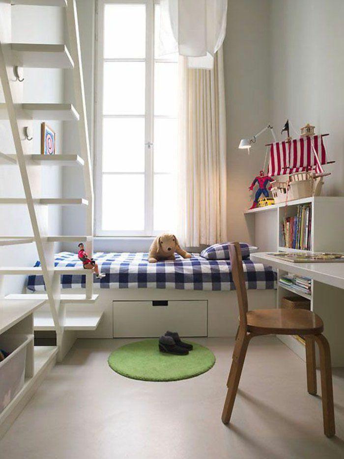 1001 solutions pour l 39 quipement de vos petits espaces chambre eva comment am nager une - Amenager chambre bureau 10m2 ...
