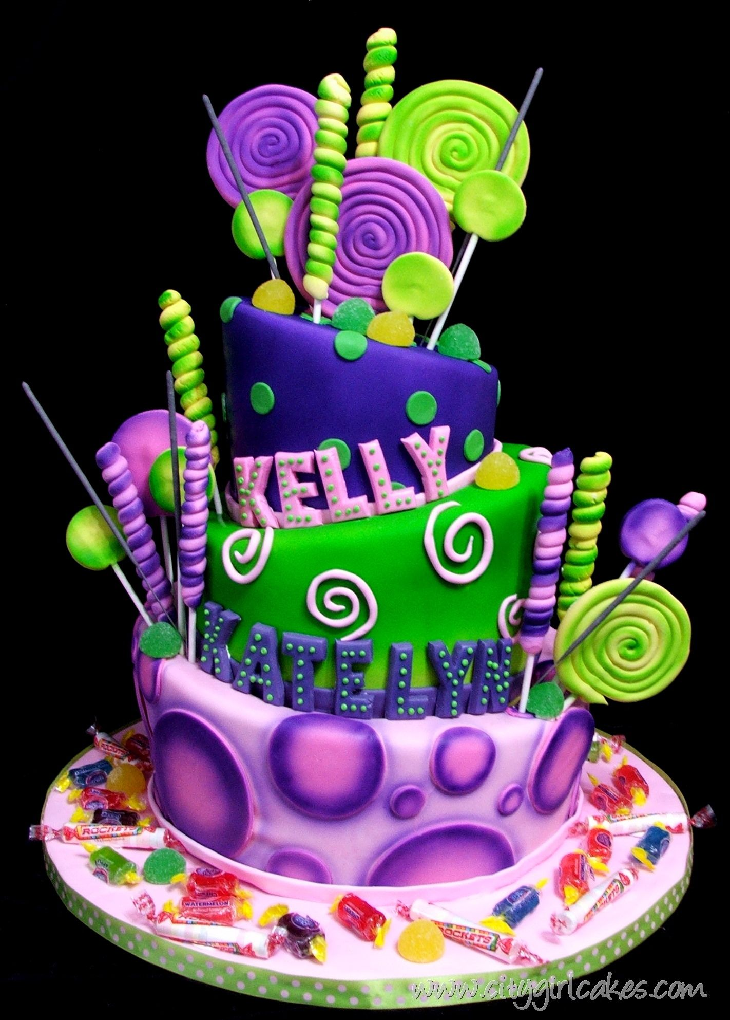 Candyland Tiered Cake