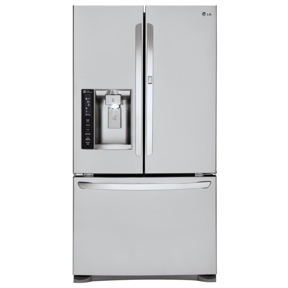 Lg Electronics 26 6 Cu Ft French Door Refrigerator With Door In
