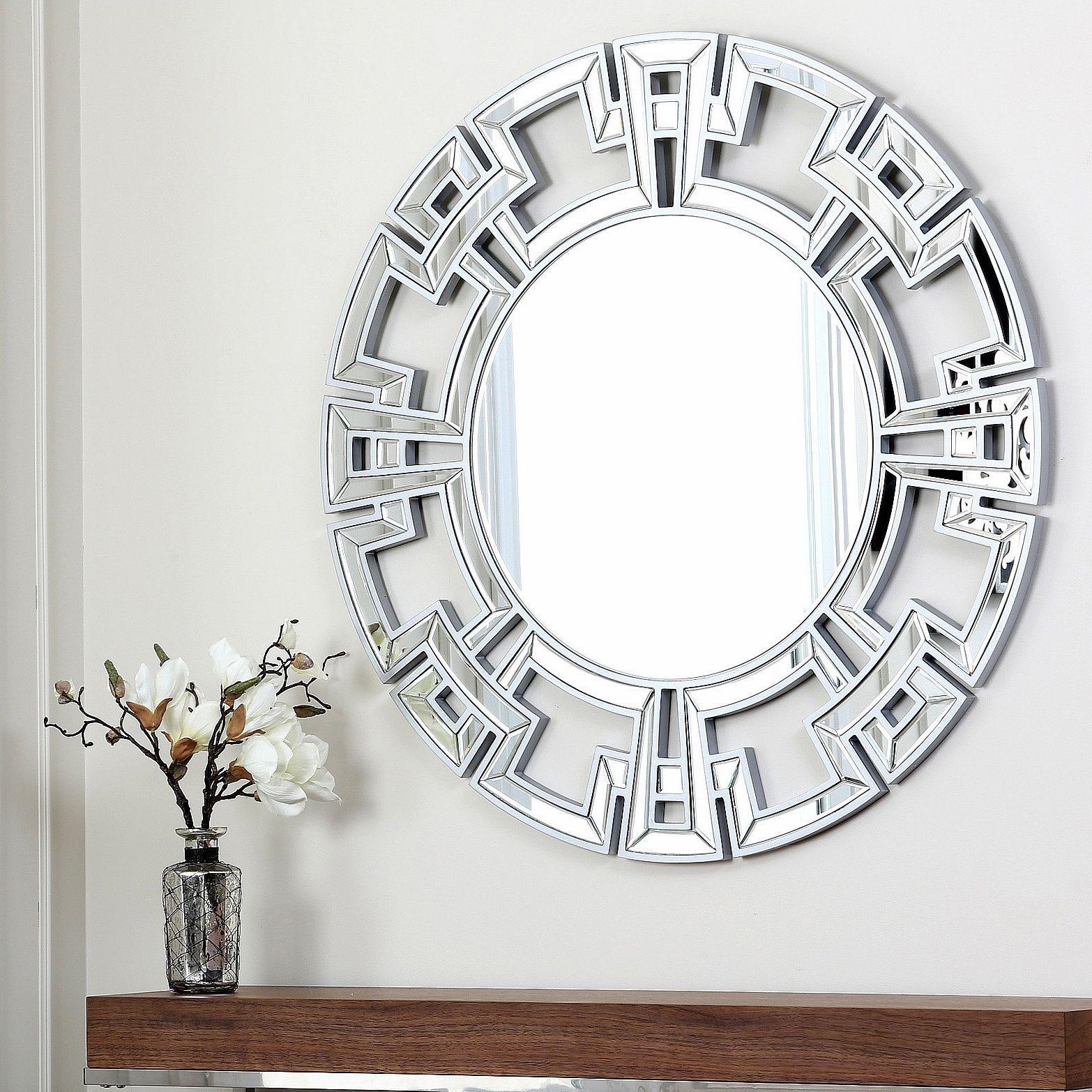 Abbyson pierre silver round wall mirror mirror construction abbyson pierre silver round wall mirror mirror amipublicfo Images