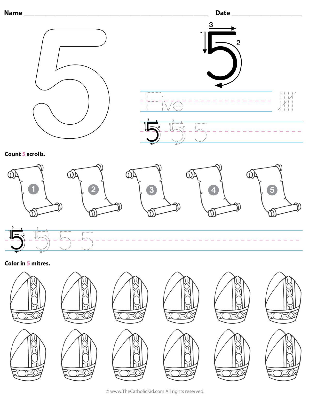 medium resolution of 10 Catholic Preschool \u0026 Kindergarten Number Worksheets ideas   preschool  kindergarten