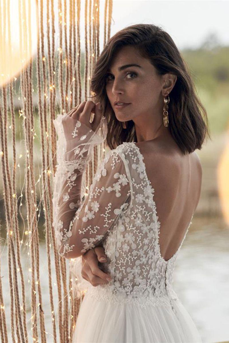 Brautkleid mit Arm, Ärmel, florale Spitze Marylise Bridal ...