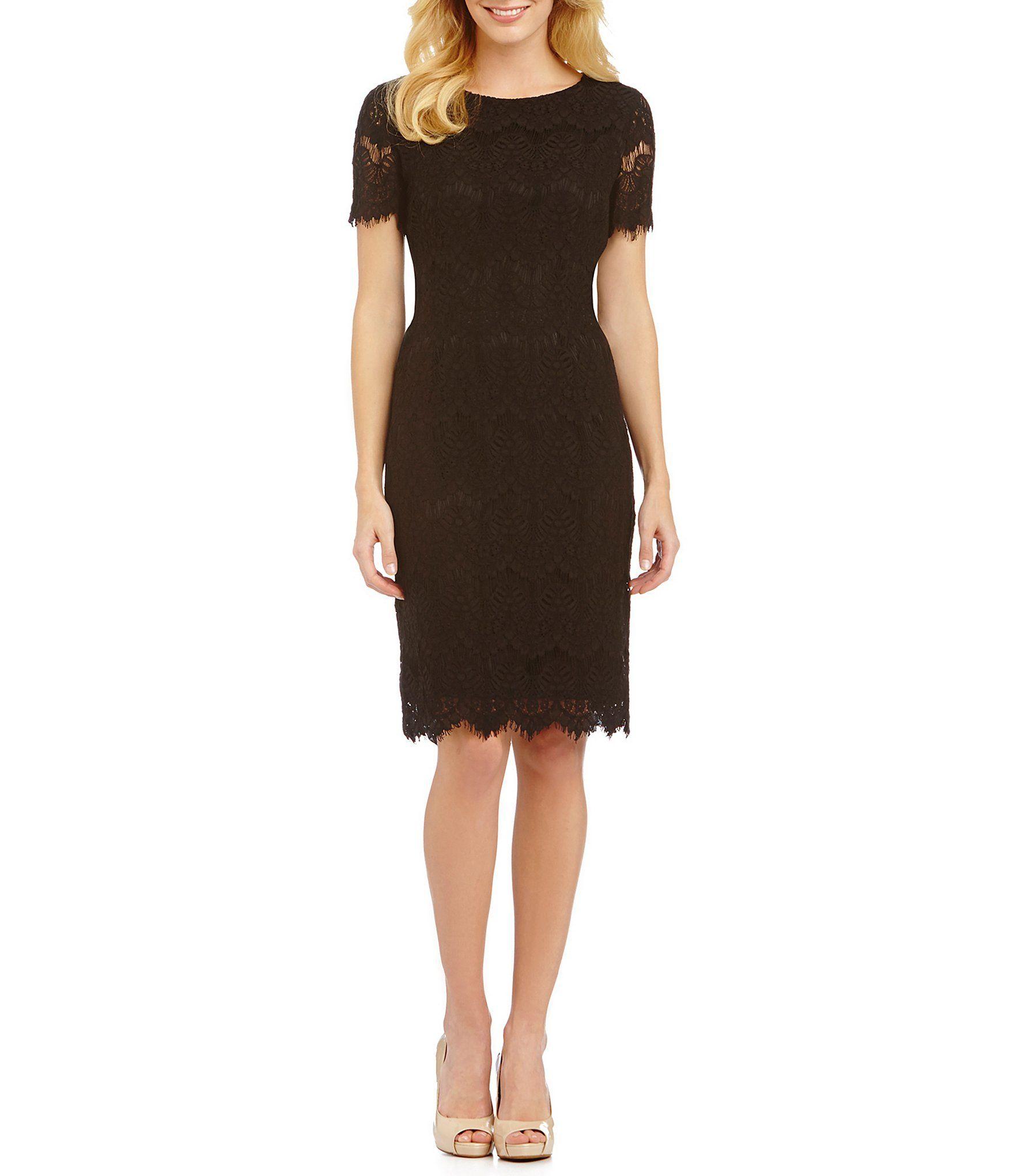 Preston & York Felicia Short Sleeve Lace Sheath Dress   Lace sheath ...