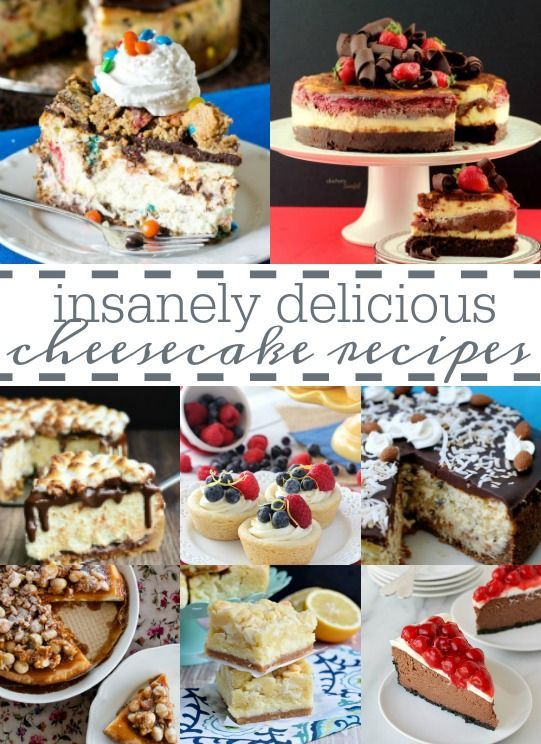 The ultimate pinterest party, week 134 35+ Insanely Delicious #Cheesecake Recipes | Every kind of cheesecake you could ever imagine in this yummy roundup... come take a look! | www.dreamingofleaving.com