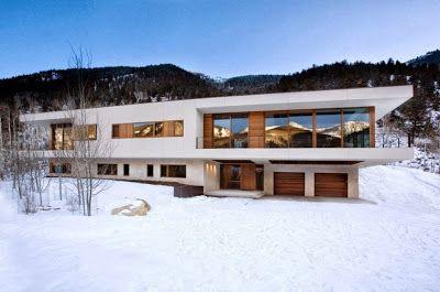Planos y dise o de casa moderna especial para climas fr os for Diseno exterior casa contemporanea