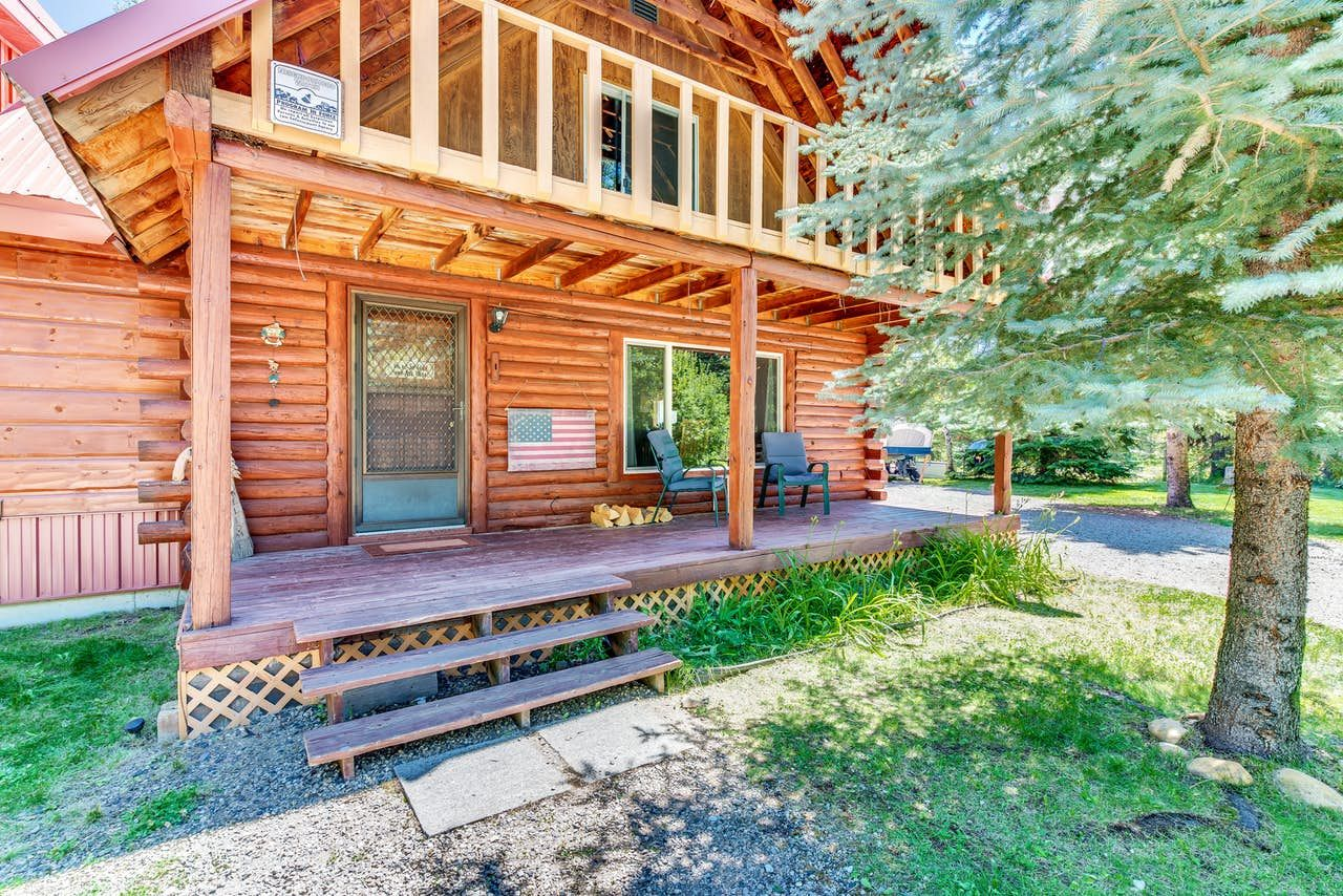 Forest lake cabin 5 bd vacation rental in donnelly id
